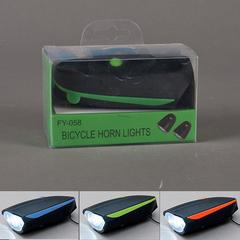 LUZ LED P/BICICLETA C/SONIDO C/CARGADOR USB 4 COL