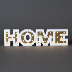 CARTEL C/LUCES LED HOME DORADO 34*3*9CM MDF