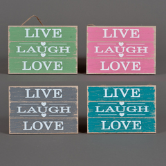 CARTEL MADERA SURTIDO LIVE/LAUGH/LOVE 17*12CM