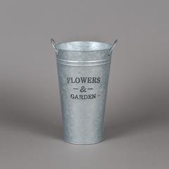 BALDE METAL C/MADERA FLOWERS & GARDEN 18*30CM