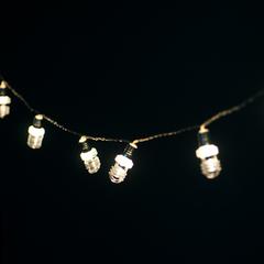 GUIRNALDA LED 10 LAMPARAS ACRILICO 2M