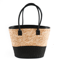BOLSO SEA GRASS NATURAL/NEGRO 30*17*50CM