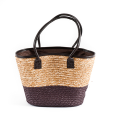 BOLSO SEA GRASS NATURAL/MARRON 30*17*50CM