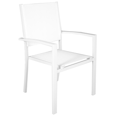 SILLON RECTO ALUMINIO BLANCO MATE