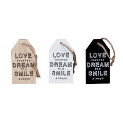 CARTEL MADERA LOVE/DREAM/SMILE 7*13CM