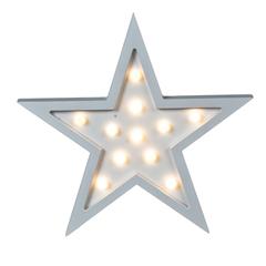 CARTEL C/LUCES LED ESTRELLA 29*3*29CM MDF