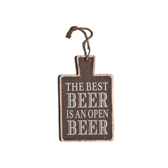 TABLA MADERA THE BEST BEER 22CM