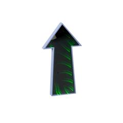 CARTEL C/LUCES LED FLECHA 11*23CM