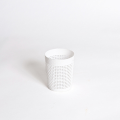 PORTA OBJETOS 10*12CM PVC BLANCO