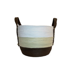 CANASTA SEAGRASS BCO/BEIGE/COFFE 28CM MED 25602010
